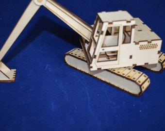 360 Excavator Model Laser Cutting plans