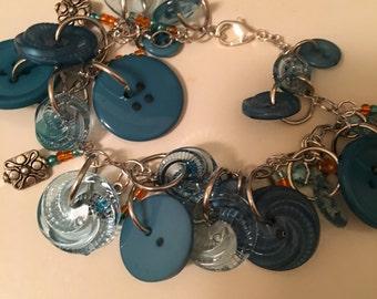 Blue Stars charm bracelet