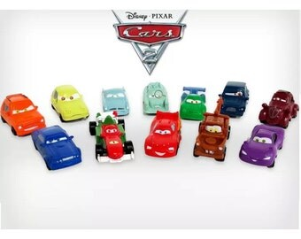 Mister A Gift Cars 2 set of 12 Plastic Cake toppers