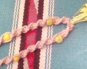 Glass Teardrop Flower Necklace