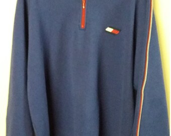 Tommy Hilfiger Athletics Qrt Zip Sweater Size XL