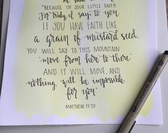 Mustard Seed, watercolor, Matthew 17:20