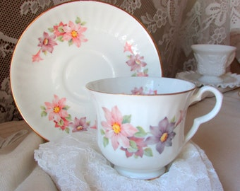 Pink and Purple Floral Print Royal Bengal Bone China India
