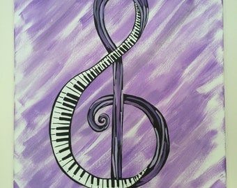 Piano Music Note Painting