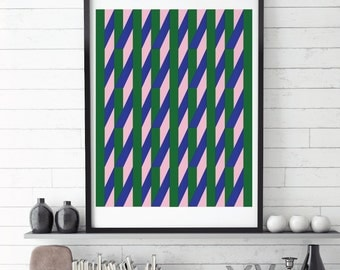 Christmas Wrapper, Digital Prints, Printable Download, Abstract Art, Minimalist Print, Contemporary Art, Pattern, Print, Green, Blue, Pink,
