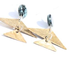 Funky Geometric Triangle Earrings