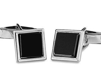 Silver 925 Cufflinks with Onyx Stone