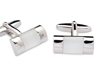 Cufflink with Rectangular Shape