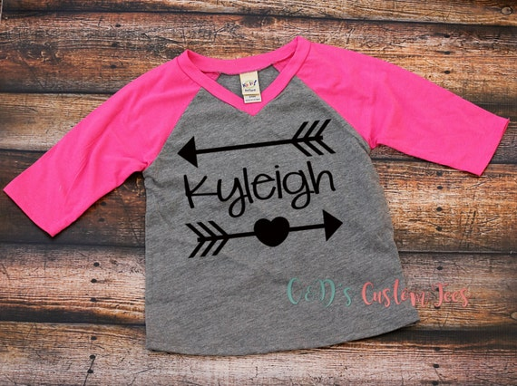 Personalized Name Shirt Arrow Name Raglan Shirt By