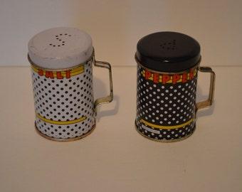 Vintage Polka Dots Salt & Pepper Shakers