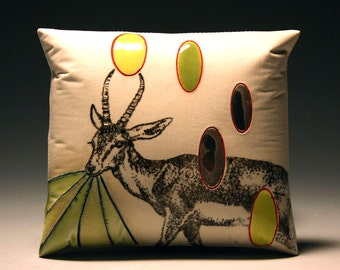 IBEX with ovals (porcelain wall pillow)