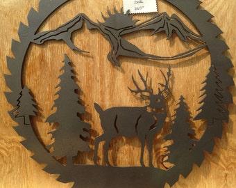 Deer Scene Sawblade