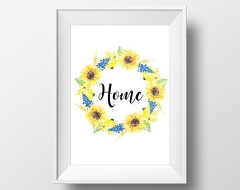 Home Quote Print - Home Quote - Wall Art - Print for Hanging - Housewarming Gift