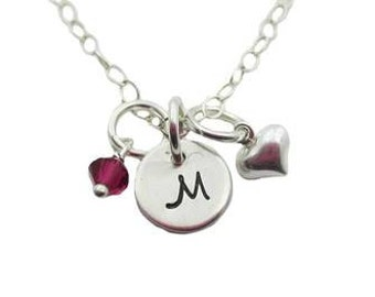 Initial Charm Necklace {Sterling Silver}