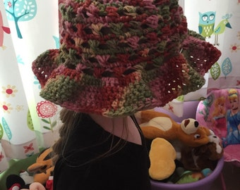 Crochet Toddler/Young Child sun hat