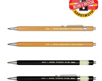 Koh I Noor mechanical pencil 2 mm clutch leadholder all metal Versatil Toison D or 5900, 5201