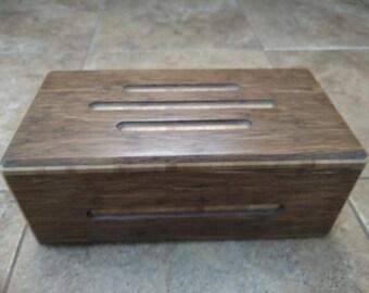 Custom made Bamboo stash box/Keepsake box