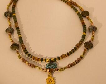 Ethiopian cross necklace