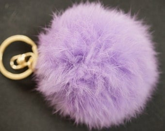 POMPON IN FUR pink  6m