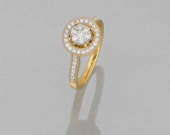 14 k Yellow Gold and white gold engagement ring