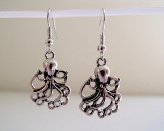 Octopus Charm Dangle Earrings