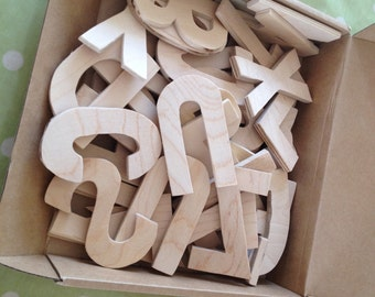 Handcrafted Wooden Alphabet