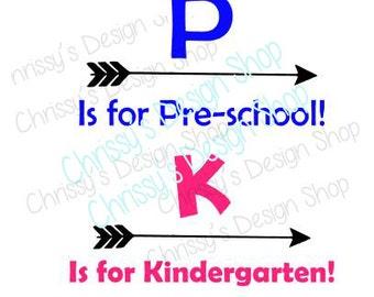 Kindergarten preschool arrows SVG / Pre school SVG / Kindergarten dxf / eps / back to school svg / school svg / vinyl crafts / school