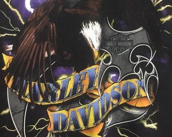 Vintage Authentic Harley Davidson Eagle T-Shirt Large