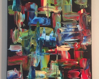 Small Original Abstract Art (10x14)