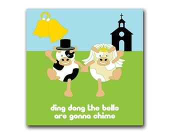 Moody cow cards ding dong (marriage/wedding/boys/girls/mixed)