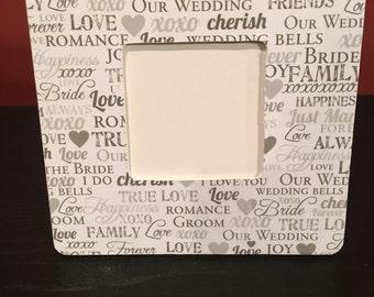 Wedding Picture Frame, Wedding Gift, Wedding Frame, Wedding