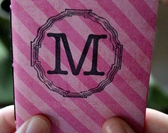 Pink Striped M Sketchbook