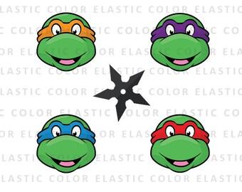 Ninja Turtles svg- Teenage Mutant ninja head clipart digital download, dxf, eps, png