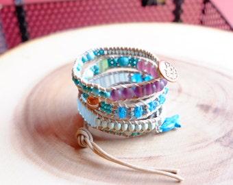 Boho vegan wrap bracelet