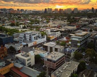 Melbourne Skyline Art Photography