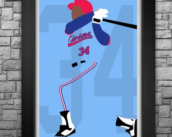 KIRBY PUCKETT minimalism style limited edition art print. Choose from 3 sizes!