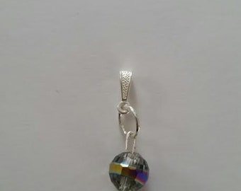 Multi-colored globe charm