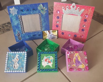 Fairy wishing boxes with wishing stones and Princess Frames