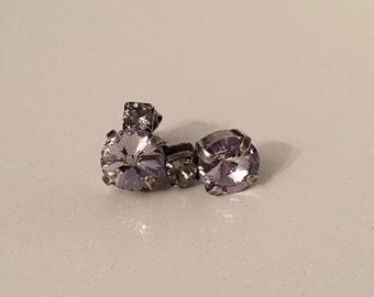 Swarovski Crystal Double the Sparkle Earrings *Bridal * Bridesmaid Jewelry * wedding