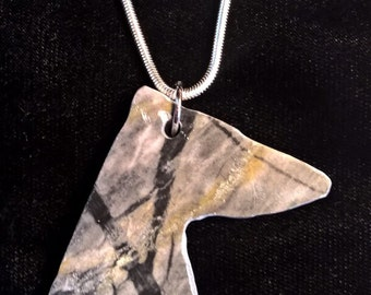 Whippet or Greyhound necklace Pendant
