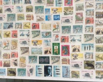 Framed Zimbabwe/Ireland Stamp Montage
