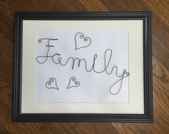 Family - Wire Wall Art