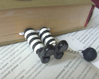 Prisoner bookmarks, Funny Bookmarks, Gift bookmark. Gift for a bookworm, Mybookmark kids, a prisoner, Gift for book lovers, Legs bookmark.