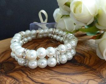 Pearl Corsage Bracelet, Amelia