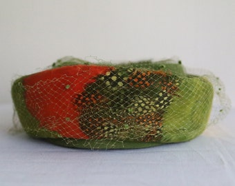 1950s Autumn Splendor Ladies Vintage Pillbox Hat
