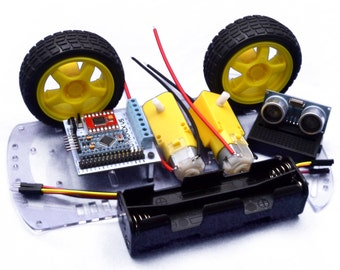 Arduino Smart Robot Avoidance Car Kit with Micro Processor and Code