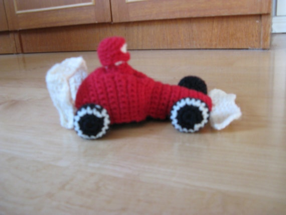 Race car for amigurumi and toy by Talvitaivas on Etsy