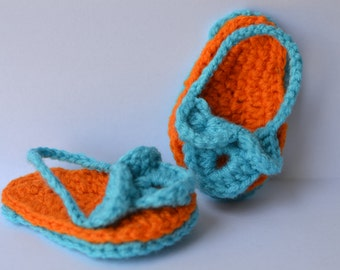 Baby Sandals, Crochet Sandals, Baby Flipflops, Crochet baby shoes, Baby Shoes 3-6 months