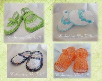 Set of  four bootie for DOLL-at a great introductory price!!!Limited Time Offer!!!