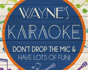 Custom Karaoke Sign Digital Download